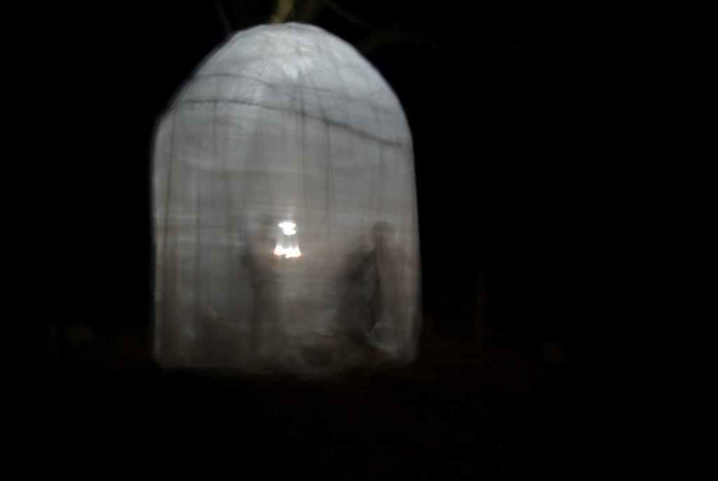 L'installation, de nuit, septembre 2019